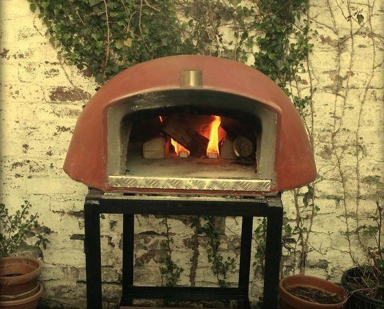 Our first little pizza oven.
